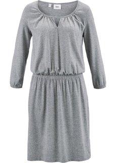 Трикотажное платье с рукавом 3/4 (светло-серый меланж) Bonprix