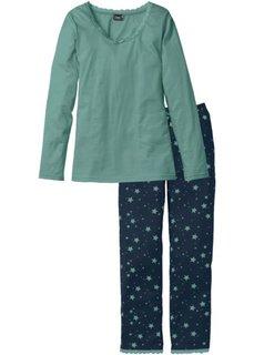 Пижама (сине-зеленый/темно-синий с рисунком) Bonprix