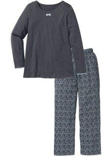 Пижама (шиферно-серый с рисунком) Bonprix