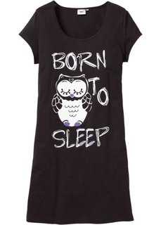 Ночная сорочка с принтом (черный с рисунком) Bonprix