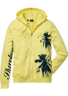 Трикотажная куртка Slim Fit (желтый) Bonprix