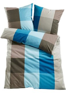Постельное белье Ницца, фланель (синий/серо-коричневый) Bonprix
