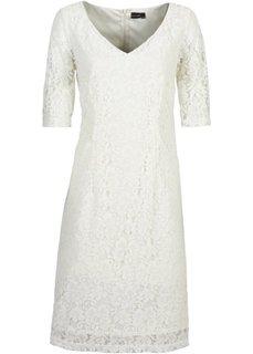 Кружевное платье (цвет белой шерсти) Bonprix