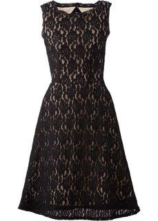Кружевное платье (черный/светло-коричневый) Bonprix