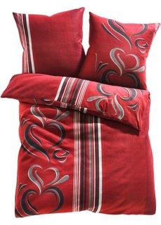 Постельное белье Касандра, линон (бордовый) Bonprix