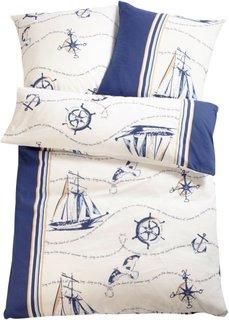 Постельное белье Корабль, фланель (синий) Bonprix