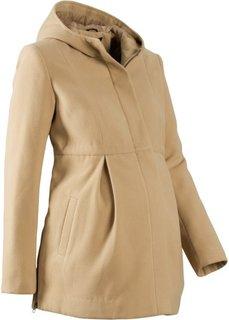 Мода для беременных: регулируемое полупальто с капюшоном (новый бежевый) Bonprix