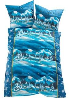 Постельное белье Тироль, фланель (синий) Bonprix
