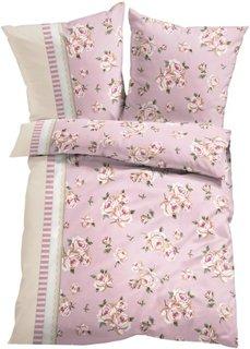 Постельное белье Лара, фланель (розовый) Bonprix