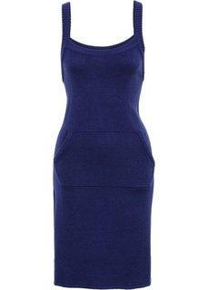 Вязаное платье (ночная синь) Bonprix