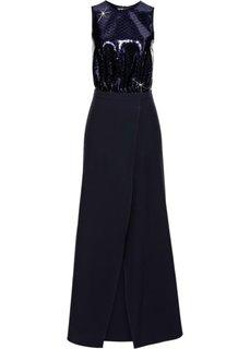 Платье с пайетками Marcell von Berlin for bonprix (темно-синий/черный)