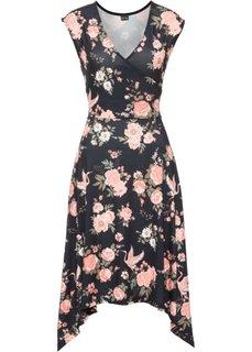 Асимметричное платье (коралловый в цветочек) Bonprix