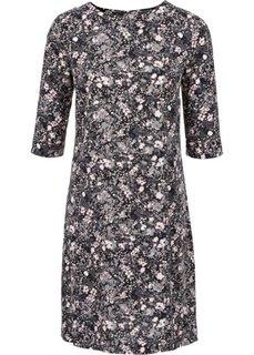 Платье с рисунком (розовый с цветочным принтом) Bonprix