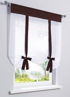Римская штора Мэнди (белый/коричневый) Bonprix