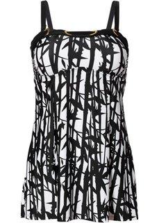 Купальный костюм-танкини (2 изделия) (черный/белый) Bonprix