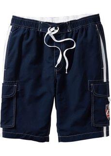 Пляжные бермуды Regular Fit (темно-синий) Bonprix