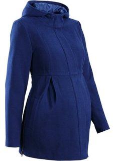 Мода для беременных: регулируемое полупальто с капюшоном (ночная синь) Bonprix