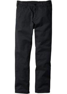 Классические брюки-стретч, низкий + высокий рост (U + S) (черный) Bonprix