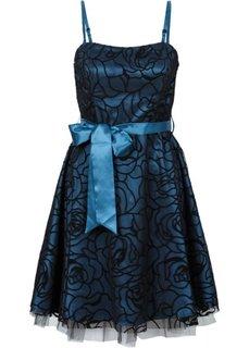 Коктейльное платье (серо-синий) Bonprix