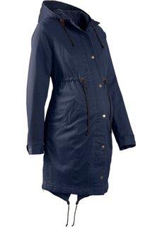Мода для беременных: парка на флисовой подкладке (темно-синий) Bonprix