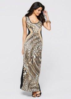 Платье (леопардовый коричневый) Bonprix
