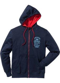 Трикотажная куртка Regular Fit с капюшоном (темно-синий) Bonprix