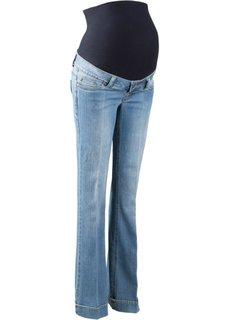 Мода для беременных: расклешенные джинсы (голубой выбеленный) Bonprix