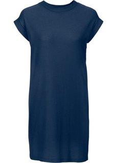 Платье из структурного трикотажа (темно-синий) Bonprix