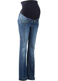 Мода для беременных: расклешенные джинсы (синий «потертый») Bonprix