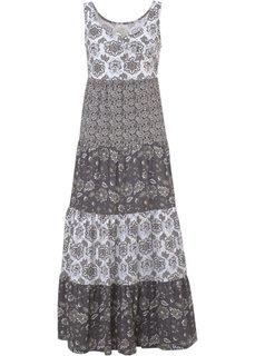 Трикотажное платье (серый/черный с узором) Bonprix