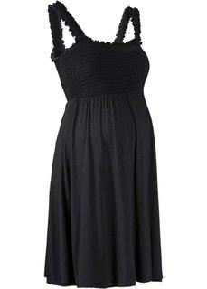 Мода для беременных: трикотажное платье (черный) Bonprix