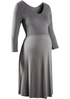 Трикотажное платье для беременных (серый) Bonprix