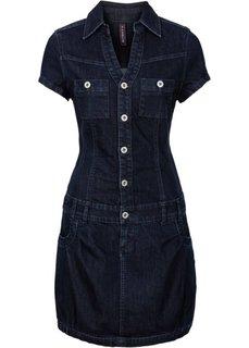 Джинсовое платье-баллон (аутентичный деним) Bonprix