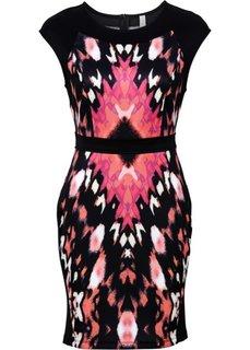 Платье из плотного трикотажа (черный/красный) Bonprix