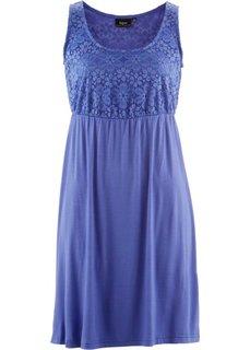 Трикотажное платье с кружевом (лилово-синий) Bonprix