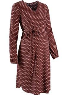 Мода для беременных: платье с принтом (кирпичный/черный/белый с узором) Bonprix
