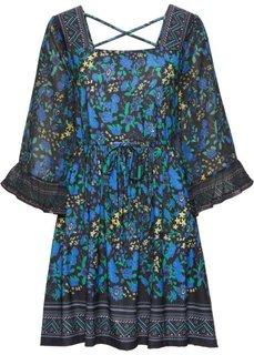 Платье (синий в цветочек) Bonprix