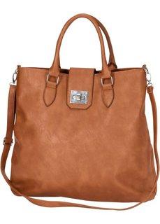 Элегантная сумка из искусственной кожи (коньячный) Bonprix