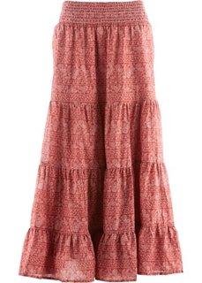 7ffc2f19b565 Макси-юбка дизайна Maite Kelly (красно-коричневый/белый с принтом) Bonprix