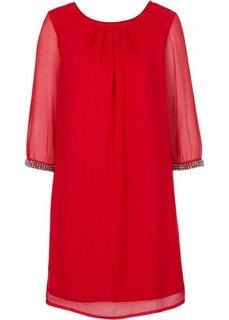 Шифоновое платье (красный) Bonprix