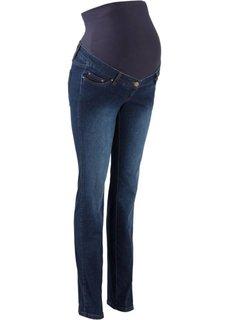 Для будущих мам: стройнящие джинсы с прямыми брючинами (темный деним) Bonprix