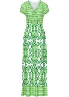 Макси-платье (зеленый с рисунком) Bonprix