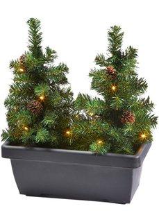 Балконный ящик Новогодние елки (3 изд.) (коричневый/зеленый) Bonprix