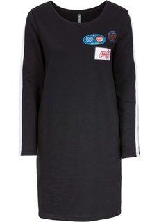 Трикотажное платье (черный) Bonprix