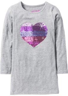 Платье с сердцем из пайеток (светло-серый меланж) Bonprix