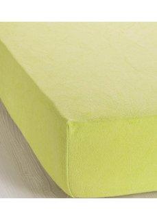 Эластичная простыня-чехол Махра (светло-зеленый) Bonprix