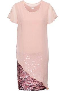 Коктейльное платье с пайетками (винтажно-розовый) Bonprix