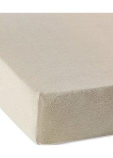 Трикотажная натяжная простыня для матраса высотой 40 см (кремовый) Bonprix