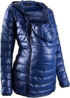 Для беременных и молодых мам: пуховик с карманом для малыша (темно-синий) Bonprix