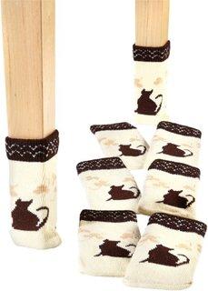 Носки для ножек стульев или стола Кошечка (8 шт.) (бежевый/коричневый) Bonprix